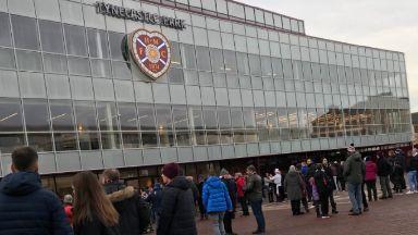 Tynecastle: Kick-off delayed after alert.