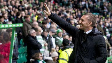 Brendan Rodgers celebrated Celtic reaching the landmark of 67 games unbeaten.