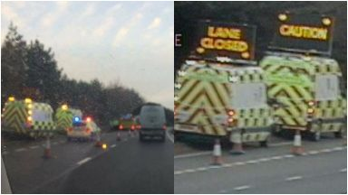 A92: Road was closed by police.