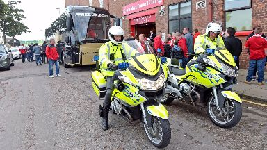Police: More officers called to match. Aberdeen Rangers Pittodrie