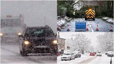 Snow: As much as 20cm could fall. Scotland