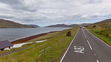 A87: Coastguard teams were called.  Loch Ainort Isle of Skye