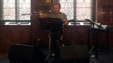 Sting performing at Fairfield Heritage Centre in Glasgow