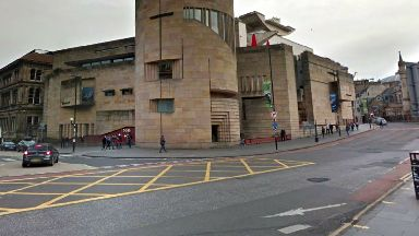National Museum of Scotland at junction of George IV Bridge and Chambers Street
