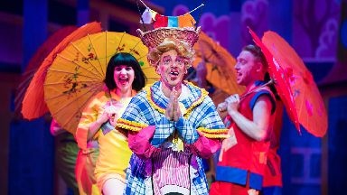 Alan McHugh as Wishee Washee in His Majesty's Theatre's pantomime Aladdin 2017