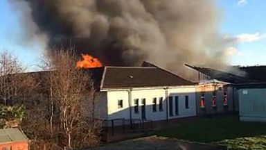 Fire at Cairneyhill Primary School, Dunfermline. December 8 2017