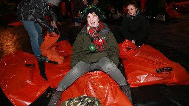 Sleepout: Thousands joined event in Edinburgh.
