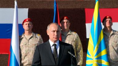 Vladimir Putin announced the withdrawal during a visit to Syria.