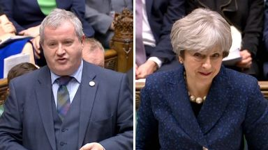 Ian Blackford and Theresa May