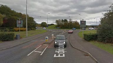 Boghall roundabout in West Lothian.