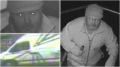 CCTV of man and van sought over Yes Bar and Rioja break-ins. 2017.