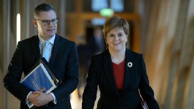 Derek Mackay and Nicola Sturgeon, December 14 2017