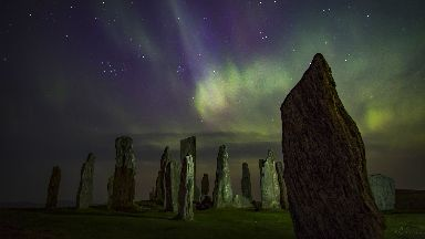 Northern Lights at Callanish Standing Stones- first time use only