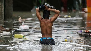 The Philippines is battered by about 20 typhoons and storms each year (file photo)