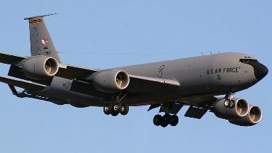 Boeing KC-135, air to air refueling aircraft.