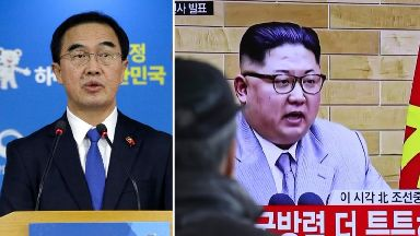 South Korean unification minister Cho Myoung-gyon proposed talks in a televised address a day after Kim Jong Un's speech.