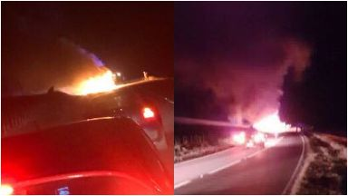 A90: Major delays caused. Bus fire