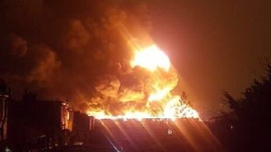 More than 90 firefighters were tackling the large blaze at a paint factory on Waterloo Road.