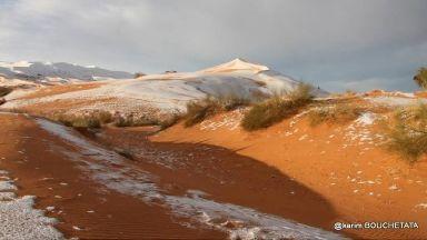 Snow in the Sahara.