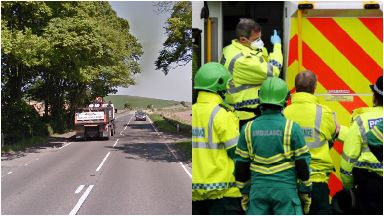 A91: Road closed by police. Cupar Dairsie Fife