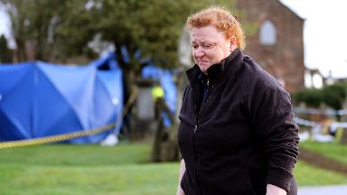 Forensic Anthropologist Sue Black at Old Monkland Cemetery in Coatbridg
