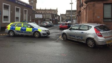 Renfrew: Cordon was in place. Wilson Street
