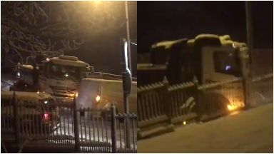 Glenmavis: Chaos was caused on street. Airdrie North Lanarkshire