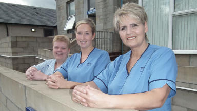 Care: Claire Stewart, Susan Daly and Heather Cooper