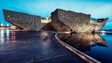 V&A: Construction work started in March 2015. V&A Dundee