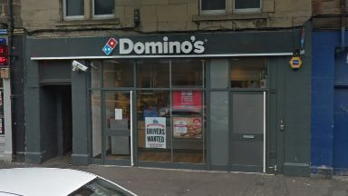 Domino's: Two men forced entry. Musselburgh High Street
