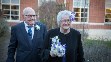 Ted Wright, 90, and Joan Grant, 81.