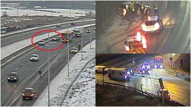 Ice: Delays caused on roads. Ice Crash