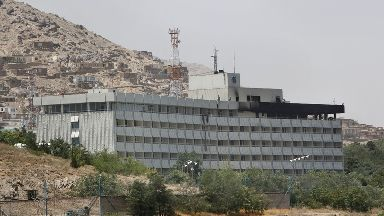 The Intercontinental Hotel in Kabul.
