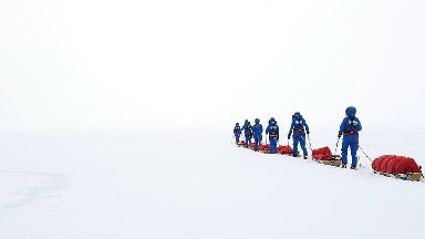 The group travelled 1,000 miles across Antarctica.