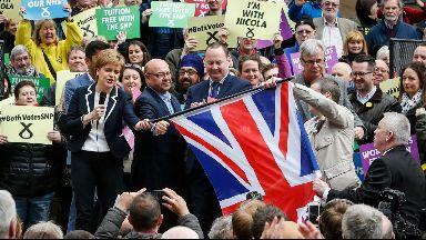 Nicola Sturgeon Union flag