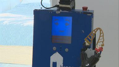 Home help robot being trialled at Heriot-Watt university.