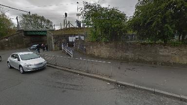 Carntyne rail station, Carntynehall Road.