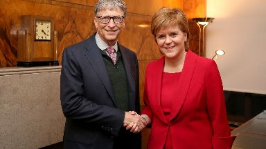 Bill Gates and Nicola Sturgeon