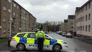 Ann Street in Burnbank, Hamilton. 24yo man found dead.