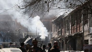 The Taliban carried out the suicide attack using an ambulance.