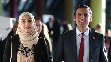 Anas Sarwar and wife Furheen sarwar, 2017