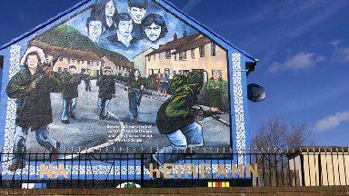 An IRA mural in west Belfast.