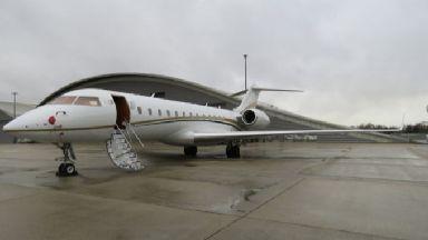 Drug find: Private jet at Farnborough Airport.