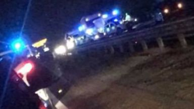 A92: The road was closed by police. Cowdenbeath