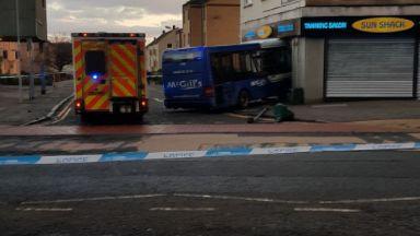 Kirkintilloch: Driver taken to hospital. Townhead Sun Shack