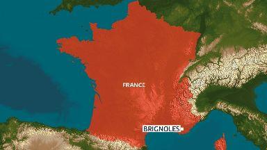 Map showing Brignoles