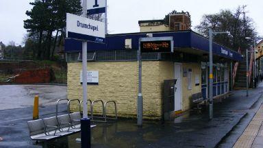 Drumchapel train station.