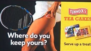 Tunnock's advert which has been banned.