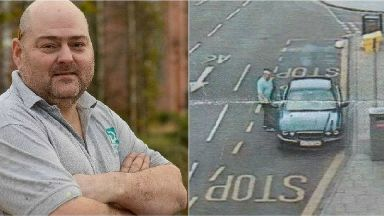 Lee Williamson (left) was fined for pulling into a bus lane to help a homeless man.