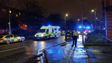Crash involving police car and 17-year-old London Road, Glasgow. February 9 2018